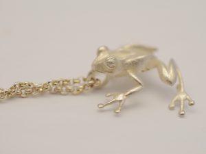 Frosch Anhänger aus 925 Silber