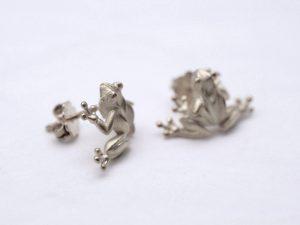 Frosch Ohrstecker aus 925 Silber
