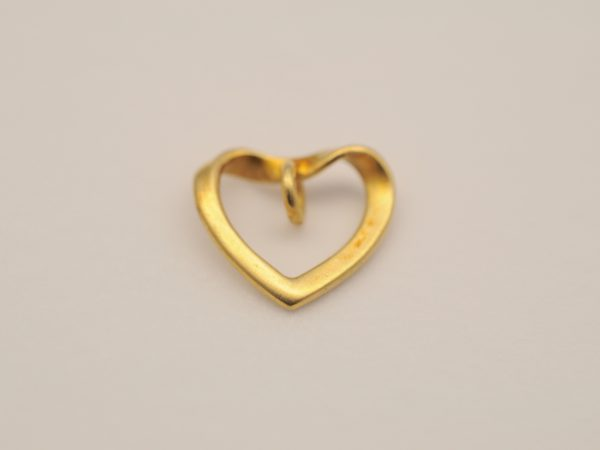Herz Anhänger aus 925 Silber vergoldet