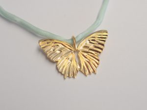 "Schmetterling Anhänger ""butterfly"" aus vergoldetem 925 Silber"