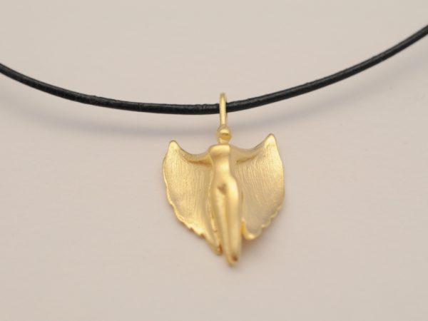 Schutzengel Modell 2013 aus Silber vergoldet