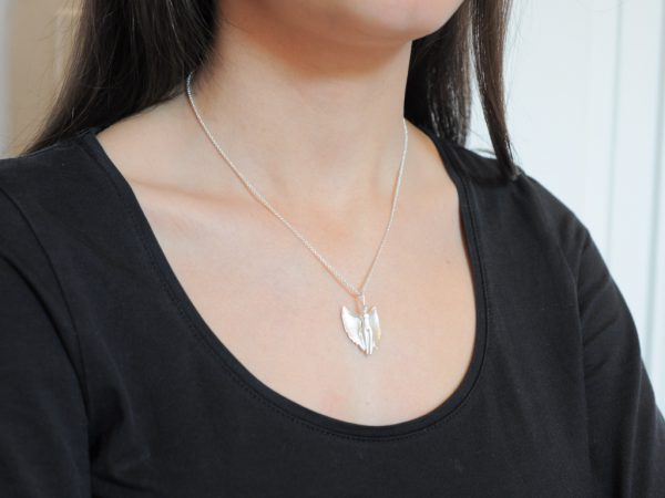 Schutzengel 2013 aus 925 Silber an Erbskette