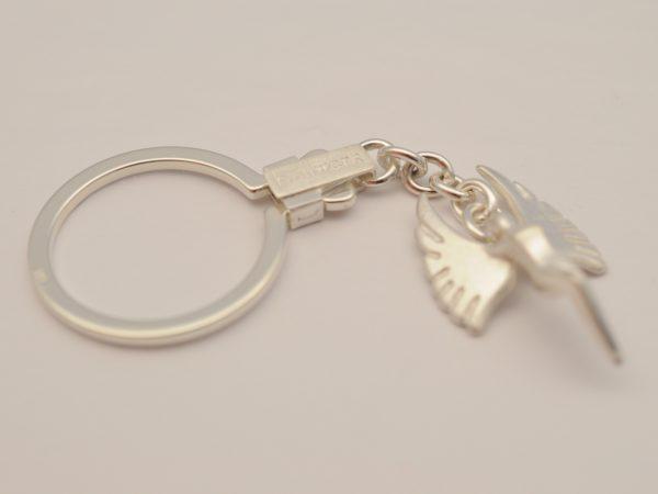 Schutzengel als Schlüsselanhänger aus Silber