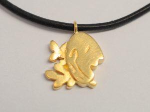 Sternzeichen Jungfrau Silber vergoldet