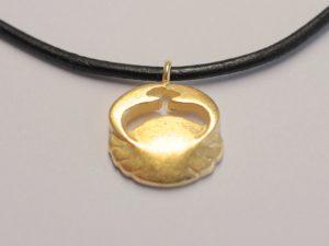 Sternzeichen Krebs aus 925 Silber vergoldet