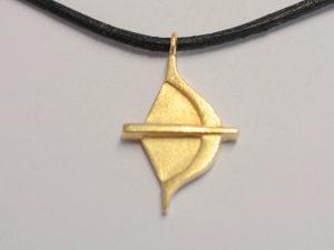Sternzeichen Schütze Silber vergoldet