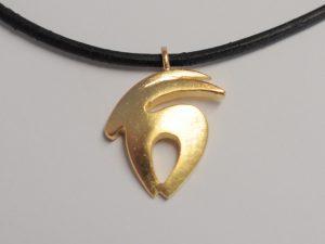 Sternzeichen Steinbock Silber vergoldet