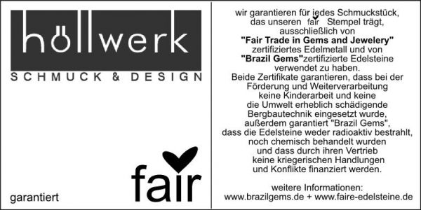hoellwerk Zertifikat Fair Trade