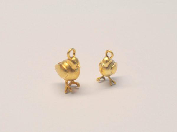Vögelchen Anhänger aus 925 Silber vergoldet