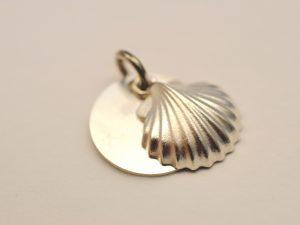 Taufschmuck Muschel aus 925 Silber