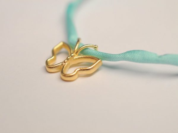 Schmetterling Silber vergoldet