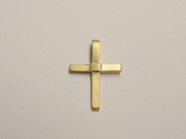 Kleines zartes Kreuz als Anhänger aus 585 Gelbgold