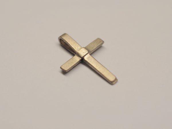 Kleines zartes Kreuz als Anhänger aus 585 Weißgold