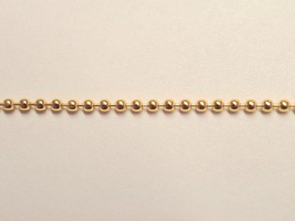 Kugelkette aus Silber vergoldet