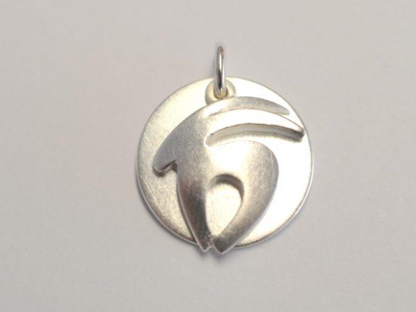 Sternzeichen Steinbock aus 925 Silber mit Gravurplatte