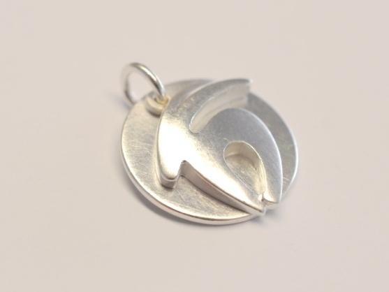Sternzeichen Steinbock aus Silber mit Gravurplättchen
