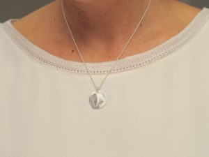 Sternzeichen Anhänger Zwillinge an Silberkette