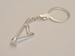 Schlüsselanhänger Harfe aus Silber
