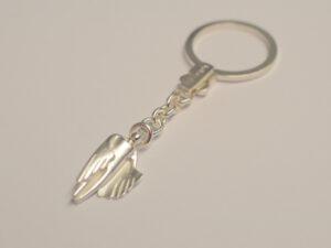 Schlüsselanhänger mit Schutzengel aus Silber