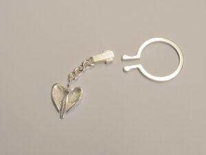 Schlüsselanhänger mit Schutzengel aus Silber - Edition 2012