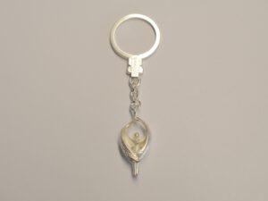 Schlüsselanhänger mit Schutzengel aus Silber - Edition 2015