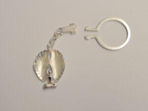 Schlüsselanhänger mit Schutzengel aus Silber - Edition 2017 groß