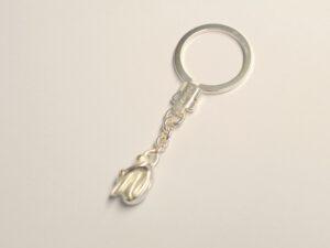 Schlüsselanhänger mit Schutzengel aus Silber - Edition 2014