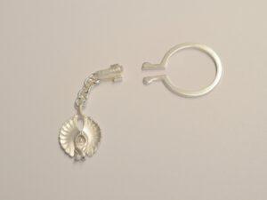 Schlüsselanhänger mit Schutzengel aus Silber - Edition 2017 klein