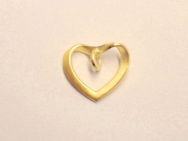 Herz Anhänger aus Gelbgold