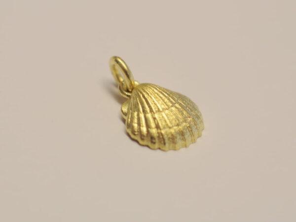 Muschel Anhänger aus Gelbgold 750