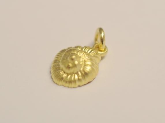Schnecke Meeresschnecke Anhaenger 750 Gold 3