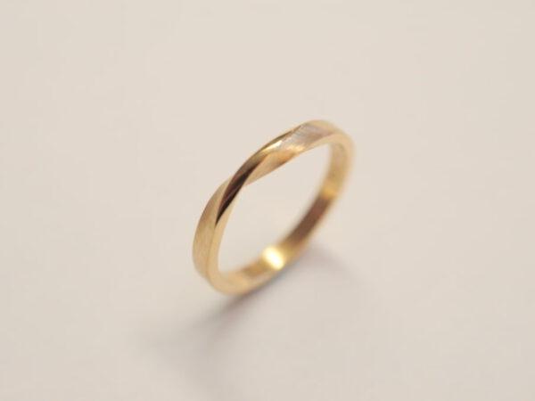Möbiusband Ring Roségold