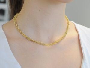 Goldkette aus 750 Gelbgold -Handarbeit