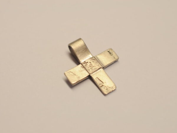 Kreuz Anhänger aus 585 WG