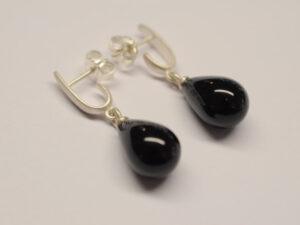 Ohrhänger mit Onyx Pampel schwarz