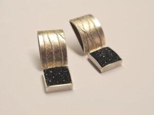 Ohrhänger Silber mit Achatkristallen