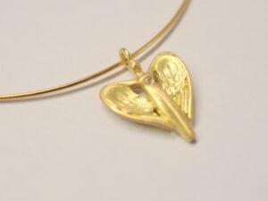 Schutzengel Gelbgold mit Diamant