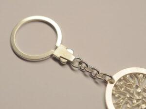 Schlüsselanhänger Lebensbaum aus Silber