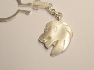 Löwe Schlüssel-Anhänger aus Silber