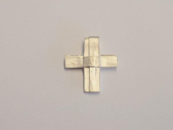 Kreuz Anhänger aus Silber - Unikat v19