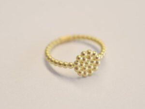Kugelring Symbol Kreis aus 750 Gelbgold