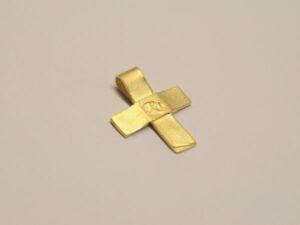 Kreuz Anhänger aus 750 Gelbgold (v15)